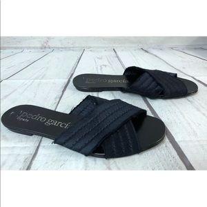 Pedro Garcia Sz 36 Black Slippers Sandals Flats